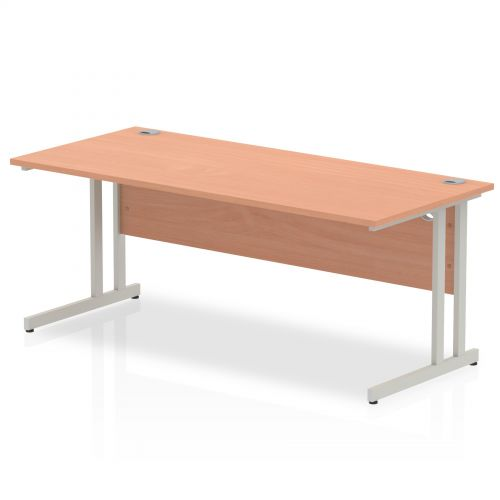 Impulse Cantilever 1800 Rectangle Desk Beech