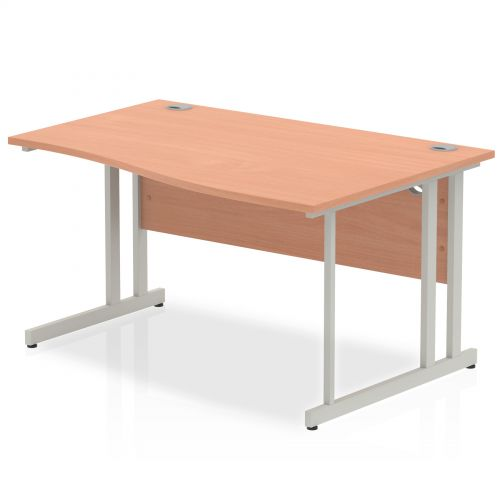 Impulse Cantilever 1400 Right Hand Wave Desk Beech