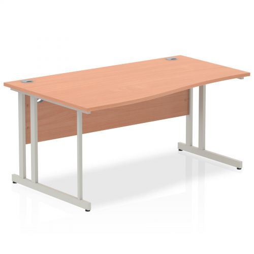 Impulse Cantilever 1600 Left Hand Wave Desk Beech