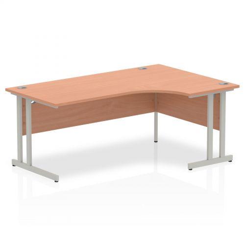 Impulse Cantilever 1800 Right Hand Crescent Desk Beech