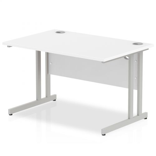 Impulse Cantilever 1200 Rectangle Desk White