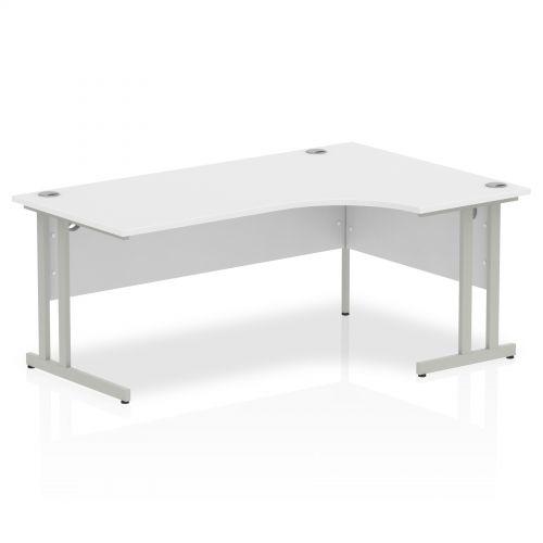 Impulse Cantilever 1800 Right Hand Crescent Desk White