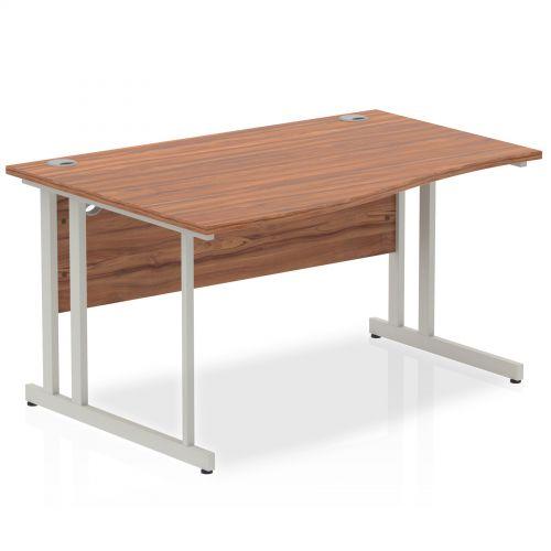 Impulse Cantilever 1400 Left Hand Wave Desk Walnut