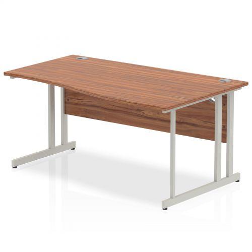 Impulse Cantilever 1600 Right Hand Wave Desk Walnut