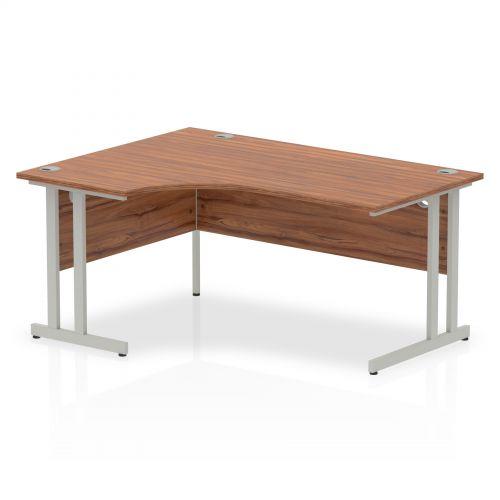 Impulse Cantilever 1600 Left Hand Crescent Desk Walnut