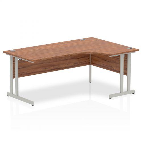 Impulse Cantilever 1800 Right Hand Crescent Desk Walnut