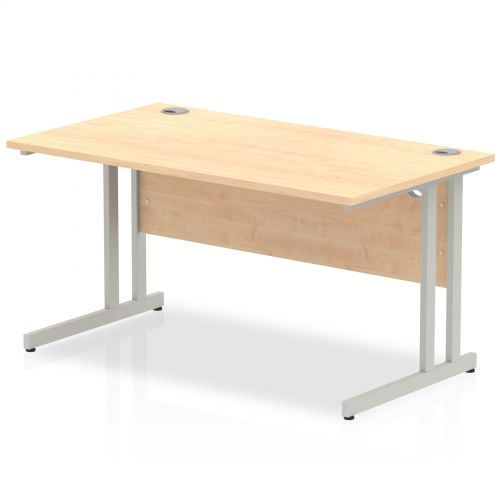 Impulse Cantilever 1400 Rectangle Desk Maple