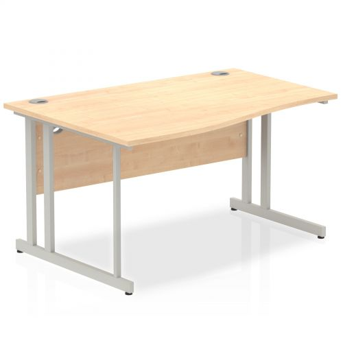 Impulse Cantilever 1400 Left Hand Wave Desk Maple
