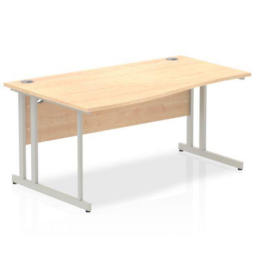 Impulse Cantilever 1600 Left Hand Wave Desk Maple