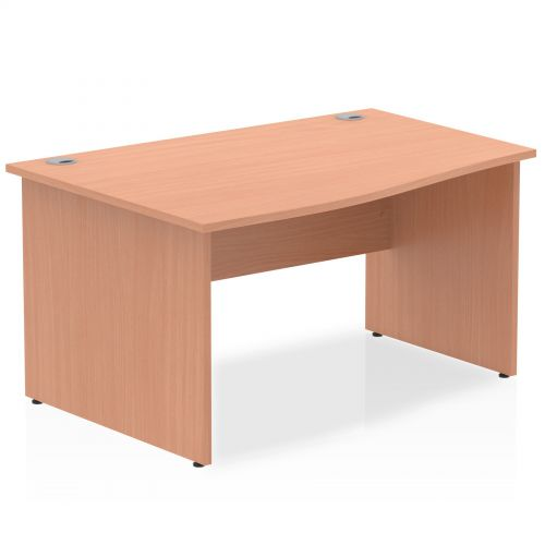 Impulse Panel End 1400 Left Hand Wave Desk Beech
