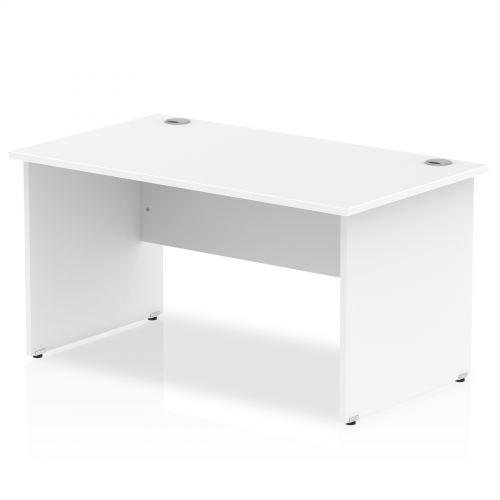 Impulse Panel End 1400 Rectangle Desk White