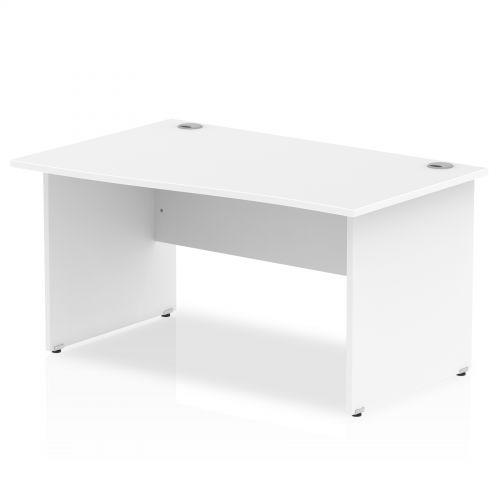 Impulse Panel End 1400 Left Hand Wave Desk White