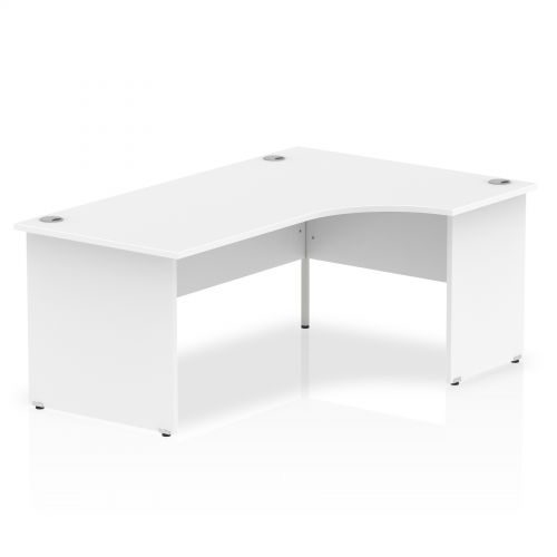 Impulse Panel End 1800 Right Hand Crescent Desk White