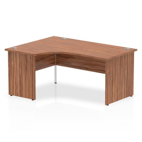 Impulse Panel End 1600 Left Hand Crescent Desk Walnut