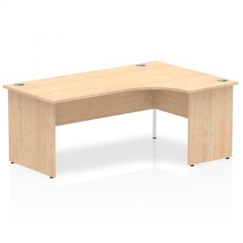 Impulse Panel End 1800 Right Hand Crescent Desk Maple