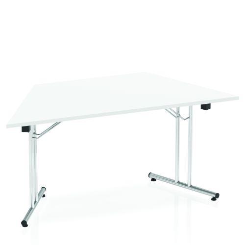Impulse Folding Trapezium Table 1600 White