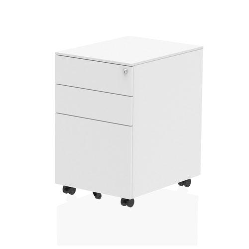 Steel Mobile Pedestal White