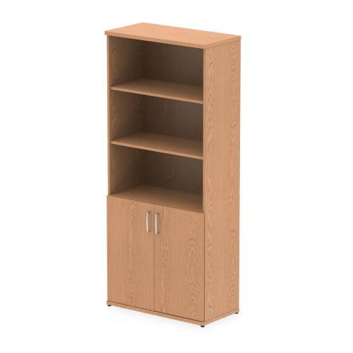 Impulse 2000mm Open Shelves Cupboard Oak I000755