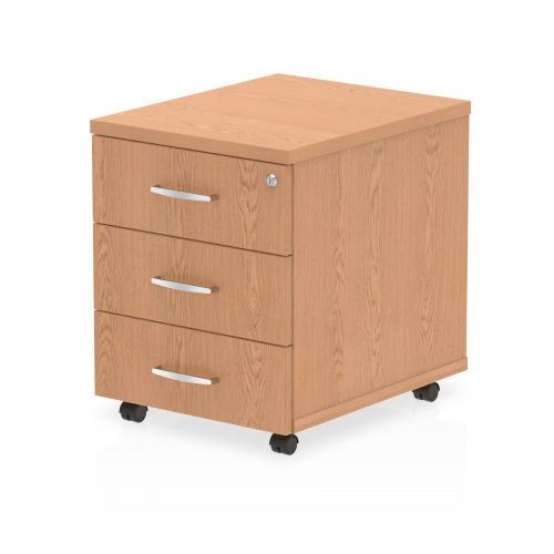 Impulse Mobile Pedestal 3 Drawer Oak