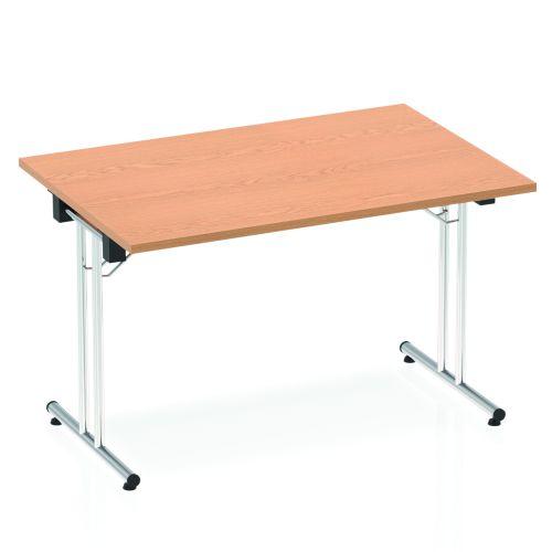 Impulse 1200 Folding Rectangular Table Oak