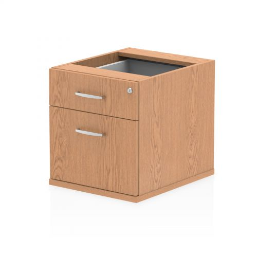 Impulse Fixed Pedestal 2 Drawer Oak