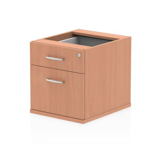 Impulse Fixed Pedestal 2 Drawer Beech