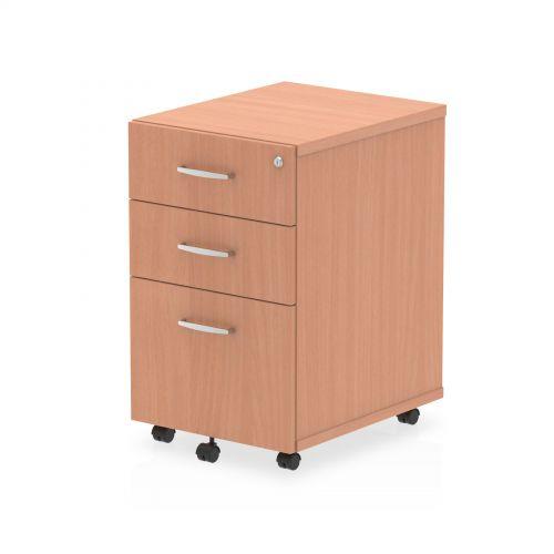 Impulse Under Desk Pedestal 3 Drawer Beech