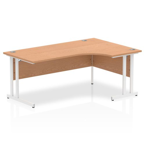 Impulse 1800 Right Hand White Crescent Cantilever Leg Desk Oak