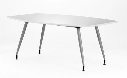 White Gloss Writable 1800 Boardroom Table