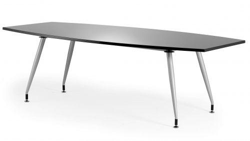 Black Gloss Writable 2400 Boardroom Table