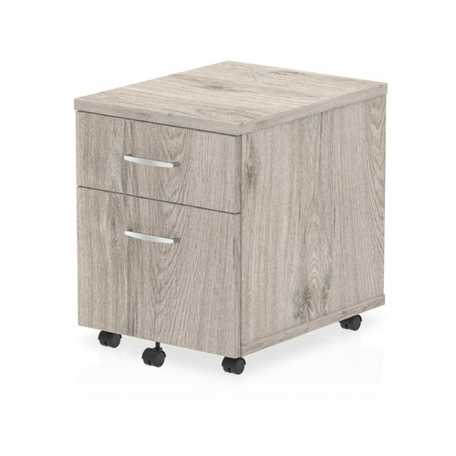 Impulse Mobile Pedestal 2 Drawer Grey Oak