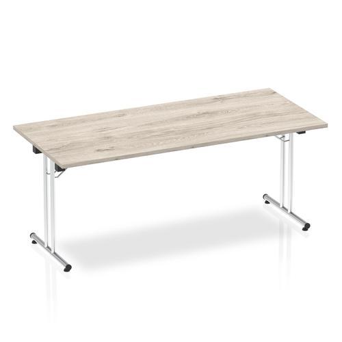 Impulse 1800 Folding Rectangular Table Grey Oak