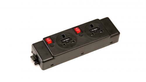 Impulse 2 x UK Sockets (5A) 2 x Switches