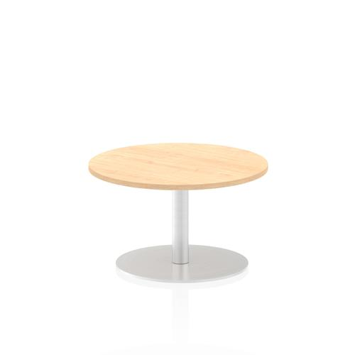 Italia Poseur Table Round 600 Top 475 High Maple