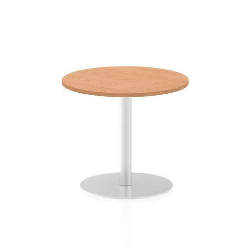 Italia Poseur Table Round 600 Top 725 High Oak