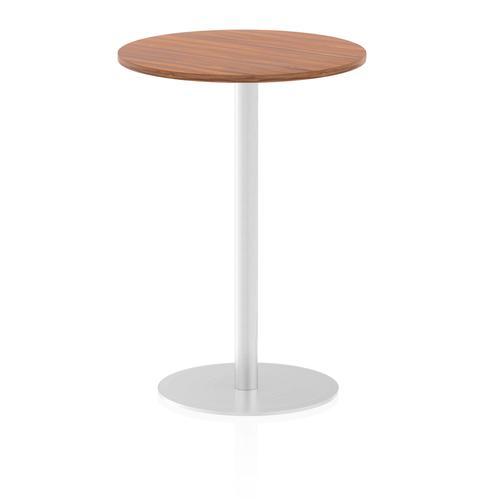 Italia Poseur Table Round 600 Top 1145 High Walnut