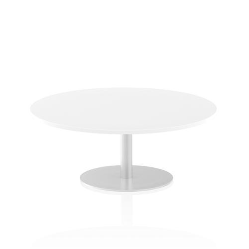 Italia Poseur Table Round 1200 Top 475 High White