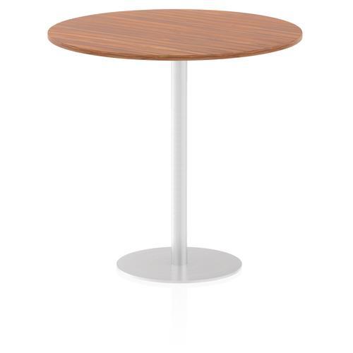 Italia Poseur Table Round 1200 Top 1145 High Walnut