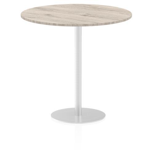 Italia Poseur Table Round 1200 Top 1145 High Grey Oak