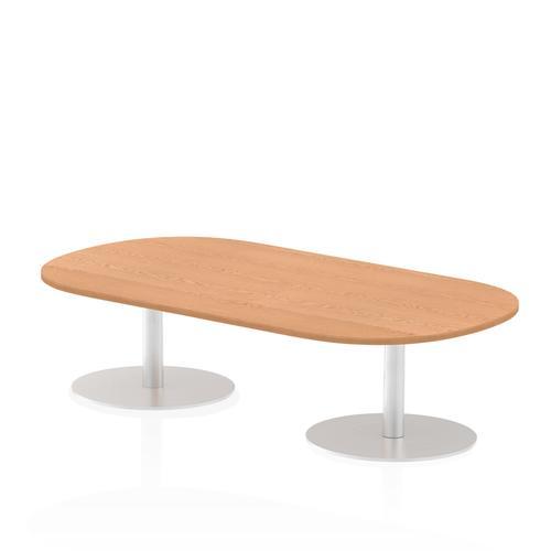 Italia Poseur Boardroom Table 1800 Top 475 High Oak