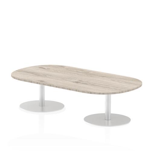 Italia Poseur Boardroom Table 1800 Top 475 High Grey Oak