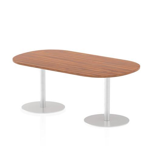 Italia Poseur Boardroom Table 1800 Top 725 High Walnut
