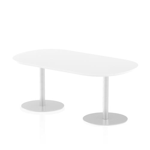 Italia Poseur Boardroom Table 1800 Top 725 High White