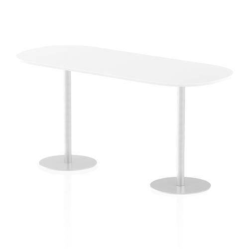 Italia Poseur Boardroom Table 2400 Top 1145 High White