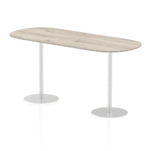 Italia Poseur Boardroom Table 2400 Top 1145 High Grey Oak