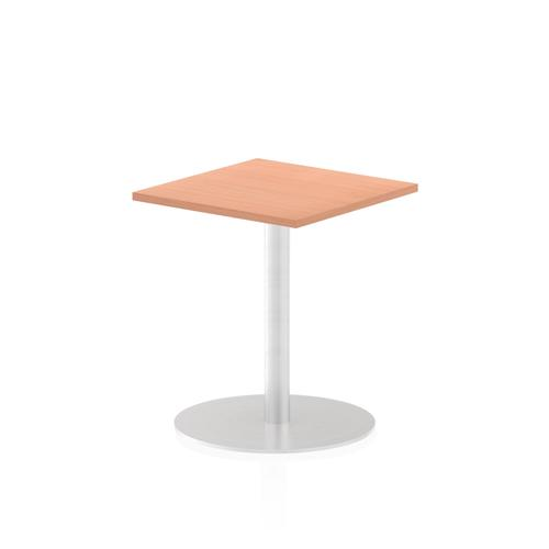 Italia Poseur Table Square 600/600 Top 725 High Beech