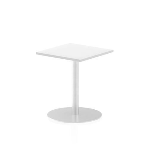 Italia Poseur Table Square 600/600 Top 725 High White