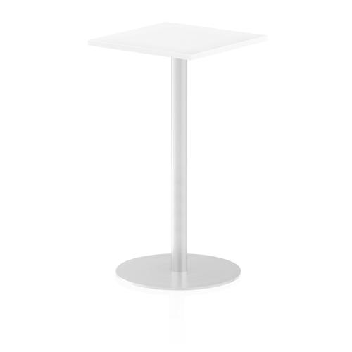 Italia Poseur Table Square 600/600 Top 1145 High White