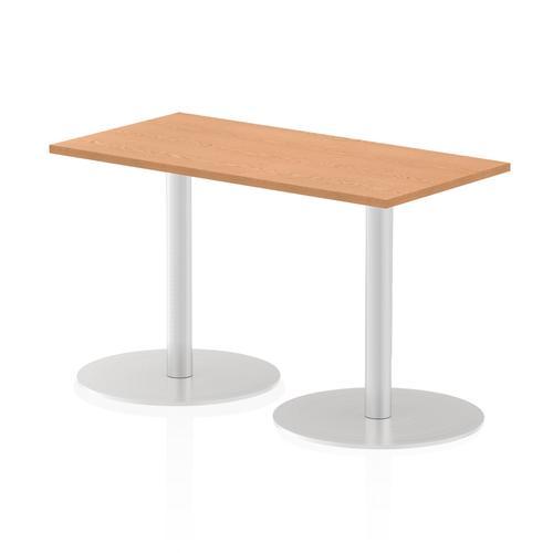 Italia Poseur Table Rectangle 1200/600 Top 725 High Oak