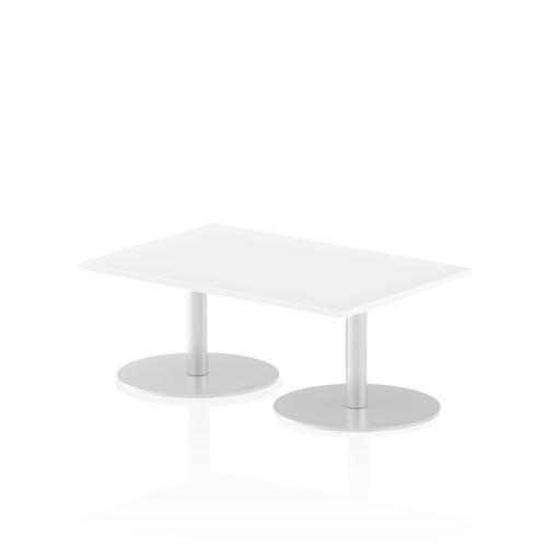 Italia Poseur Table Rectangle 1200/800 Top 475 High White